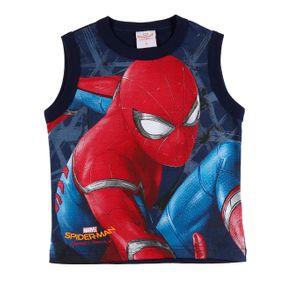Camiseta Regata Spider Man Infantil para Menino - Azul Marinho 10
