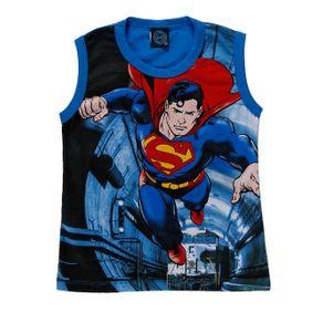 Camiseta Regata Superman Infantil para Menino - Azul 8