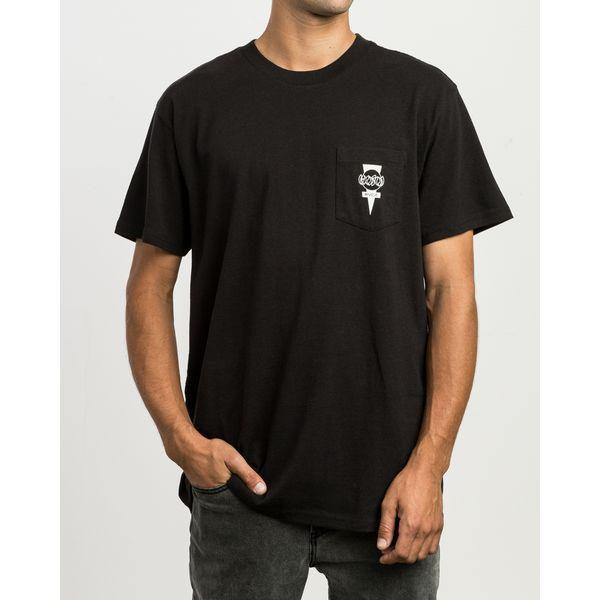 Camiseta RVCA X Hosoi Black White (P)