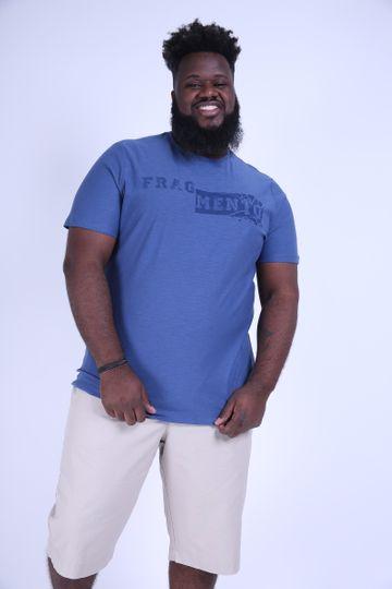Camiseta Silk Fragmento Plus Size Azul P