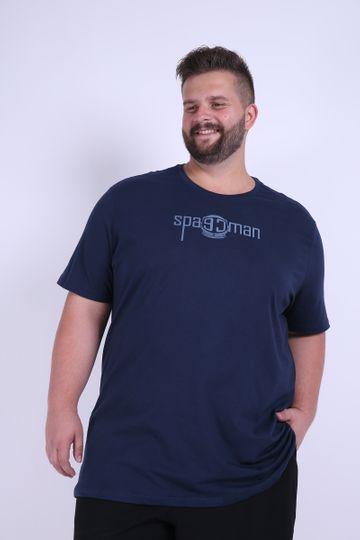 Camiseta Silk Spaceman Plus Size Azul Marinho P