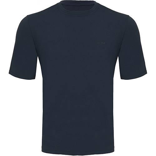 Camiseta Silver Fresh Masculina com Proteção Solar 50 Azul Manga Curta Curtlo