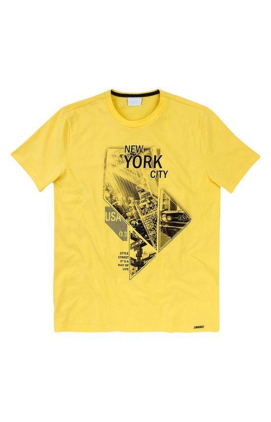 Camiseta Slim Estampada Enfim Amarelo - P