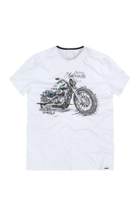 Camiseta Slim Estampada Enfim Branco - G