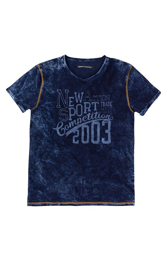Camiseta Slim Malha Índigo Enfim Azul Escuro - PP
