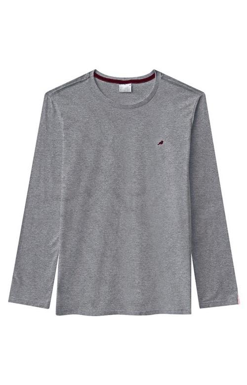 Camiseta Slim Meia Malha Enfim Cinza Claro - G