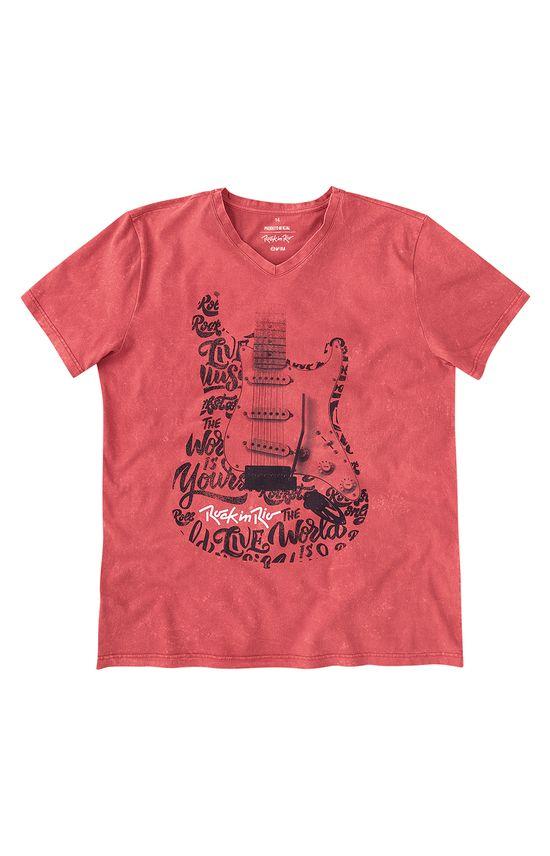 Camiseta Slim Rock In Rio® Enfim Vermelho - G