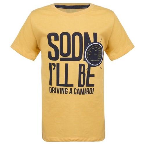 Camiseta Soon It Will Drive Infantil Camaro Gm Amarelo 2 Anos 11447