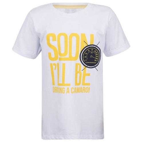 Camiseta Soon It Will Drive Infantil Camaro Gm Branco 2 Anos 11446