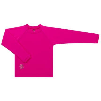 Camiseta Surfista em Lycra FPS 50 Pink - Cara de Criança