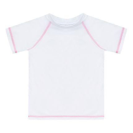 Camiseta Surfista para Bebê em Lycra FPS 50 Branca - Dedeka