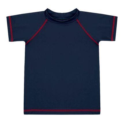 Camiseta Surfista para Bebê em Lycra FPS 50 Marinho - Dedeka