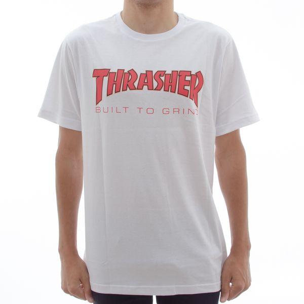 Camiseta Thrasher X Independent BTG White (P)