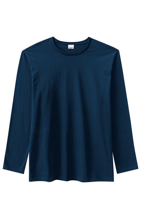 Camiseta Tradicional Lisa Wee! Azul Escuro - M