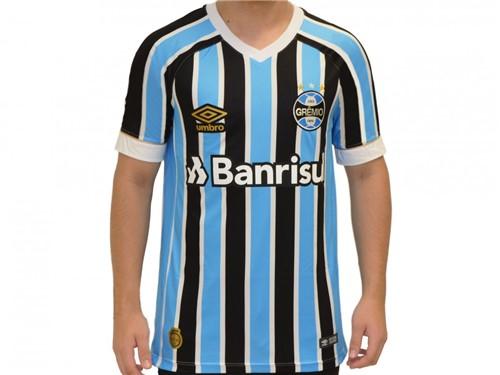 Camiseta Umbro Grêmio Oficial 1 Fan S/N 2018 Tricolor