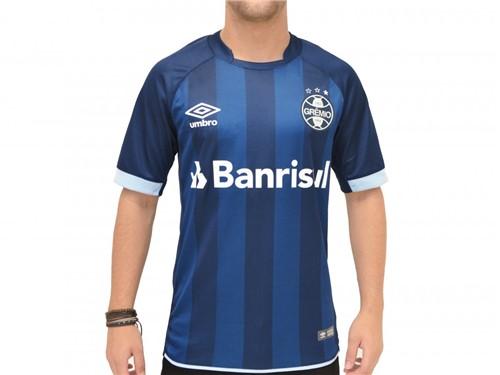Camiseta Umbro Grêmio Oficial 3 Fan S/N 2017/18 Marinho