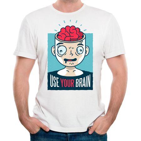 Camiseta Use Seu Cérebro II P - BRANCO
