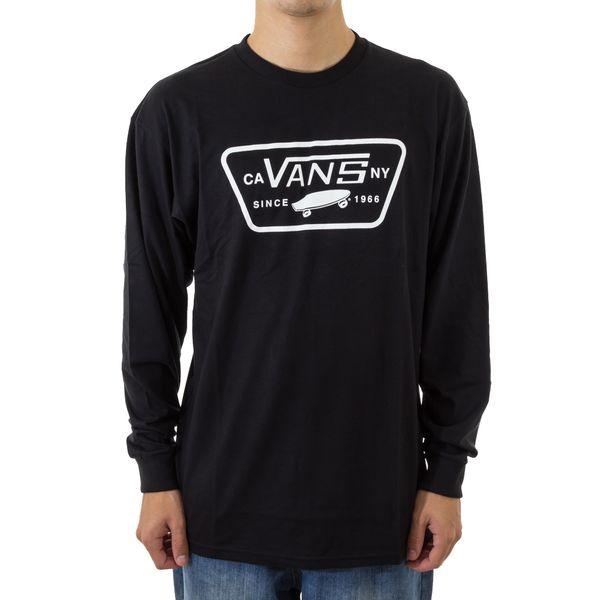 Camiseta Vans Manga Longa Full Patch Black (P)