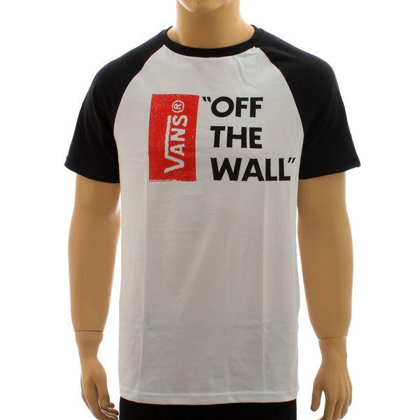 Camiseta Vans Off The Wall Raglan White (M)