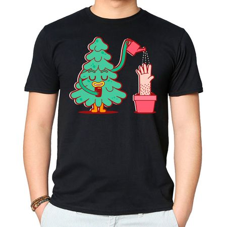 Camiseta Watering Tree P-PRETO