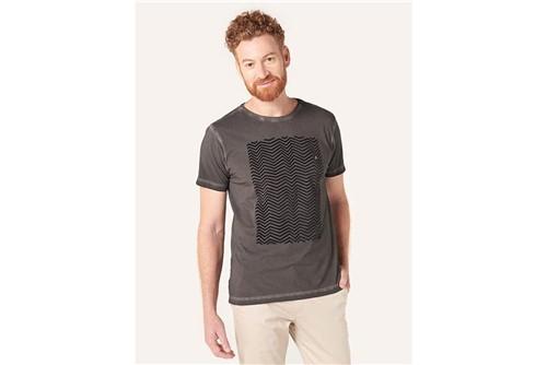 Camiseta Zig Zag Floco Night - Preto - P