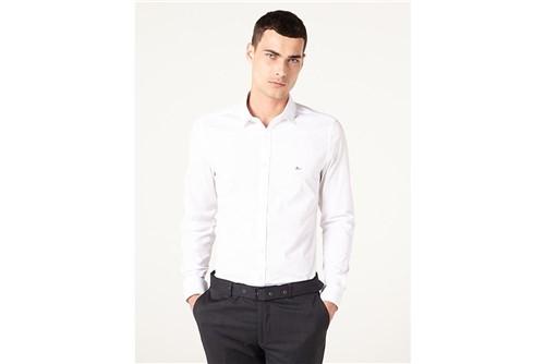 Camsa Menswear Super Slim Pesponto - Branco - P
