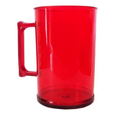 Caneca Acrílica Vermelha 300ml
