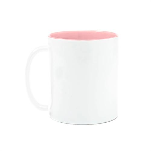 Caneca Branca com Interior Rosa UNIDADE