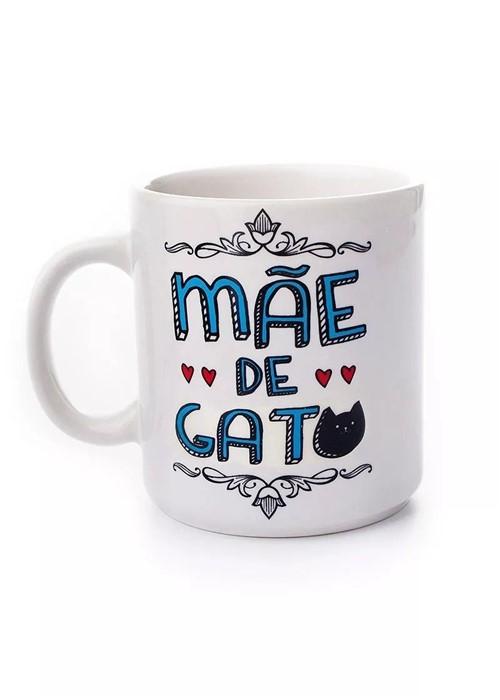 Caneca Branca Mãe de Gato - Compre na Imagina só Presentes