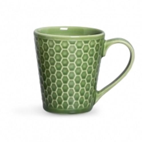 Caneca Colmeia Cerâmica Verde Sálvia - Occa Moderna