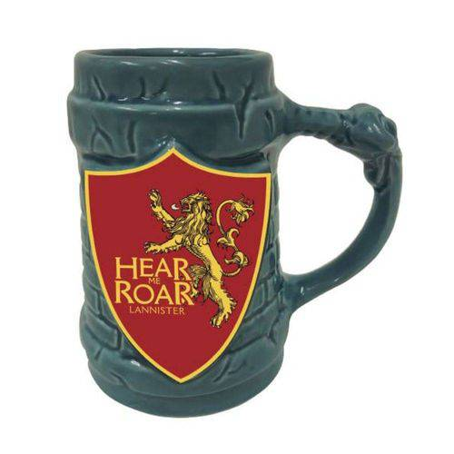 Caneca 3d Game Of Thrones Escudo Lannister 500ml - Zona Criativa