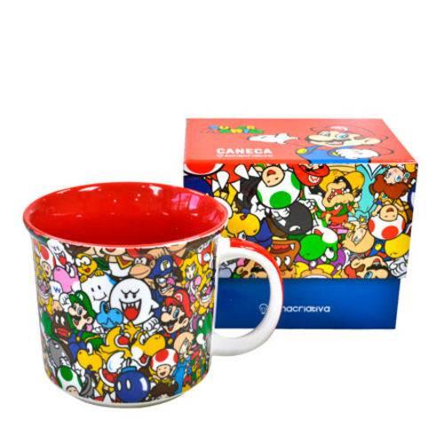 Caneca de Cerâmica Super Mario Anime 350 Ml