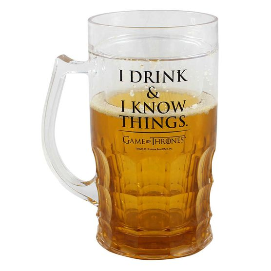 Caneca de Chopp 500 Ml I Drink & I Know Game Of Thrones