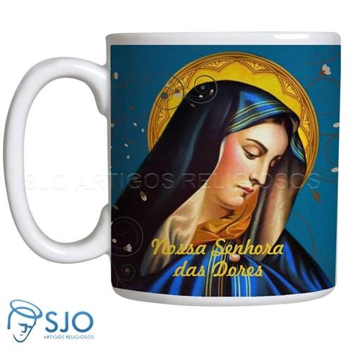 Caneca de Nossa Senhora das Dores com Oração | SJO Artigos Religiosos