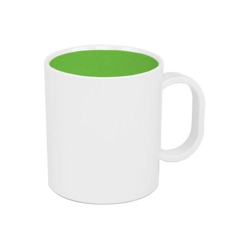 Caneca de Polímero com Interior Verde Interior Verde - Unidade