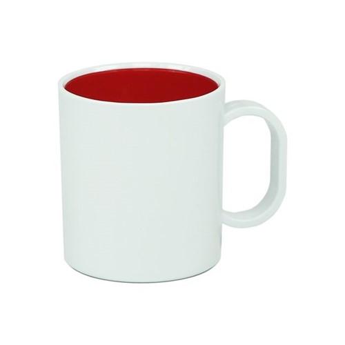 Caneca de Polímero com Interior Vermelho Interior Vermelho - Unidade