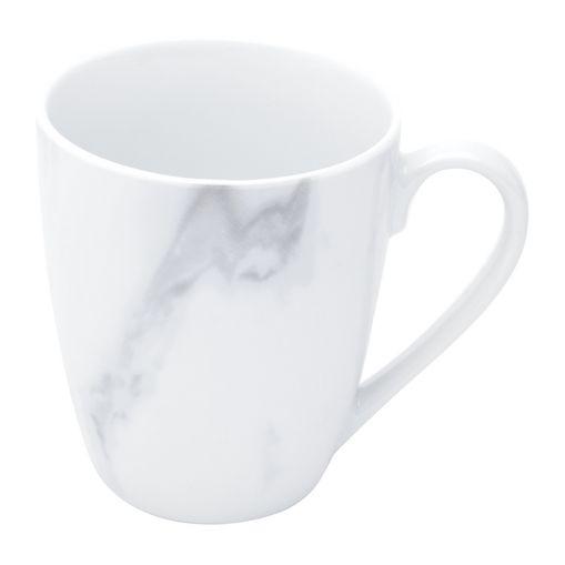 Caneca de Porcelana 350ml Marble Branca Wolff