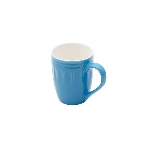Caneca de Porcelana Azul Mary 345ml