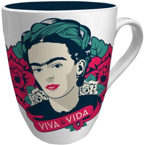 Caneca de Porcelana Branca Viva Frida Kahlo Urban