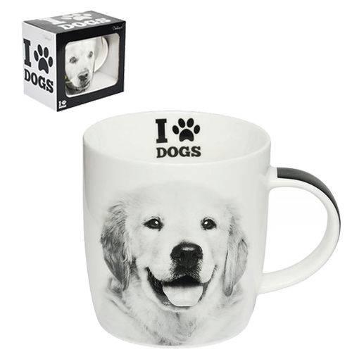 Caneca de Porcelana I Love Dogs Golden Retriever 320ml
