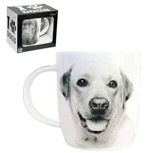 Caneca de Porcelana I Love Dogs Labrador 320ml