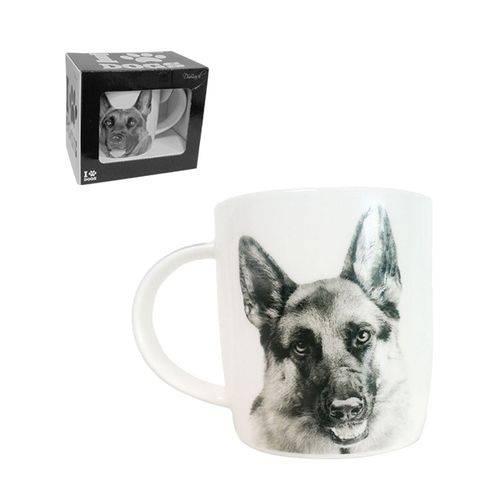 Caneca de Porcelana I Love Dogs Pastor Alemão 320 Ml - Dm Brasil