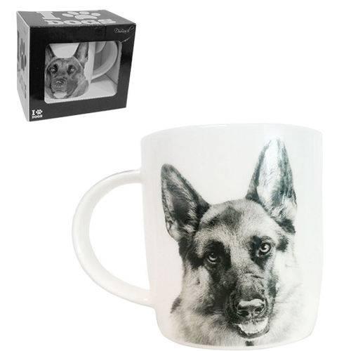 Caneca de Porcelana I Love Dogs Pastor Alemao 320ml
