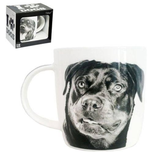 Caneca de Porcelana I Love Dogs Rottweiler 320ml