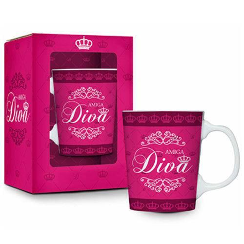 Caneca de Porcelana Premium Amiga Diva 280ml