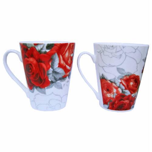 Caneca de Porcelana Roses New 280ml