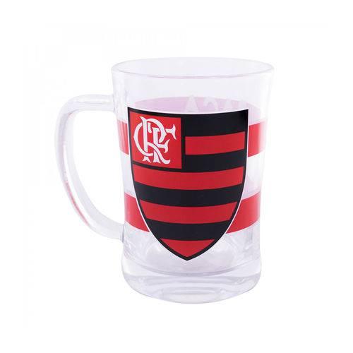 Caneca de Vidro 660ml Flamengo