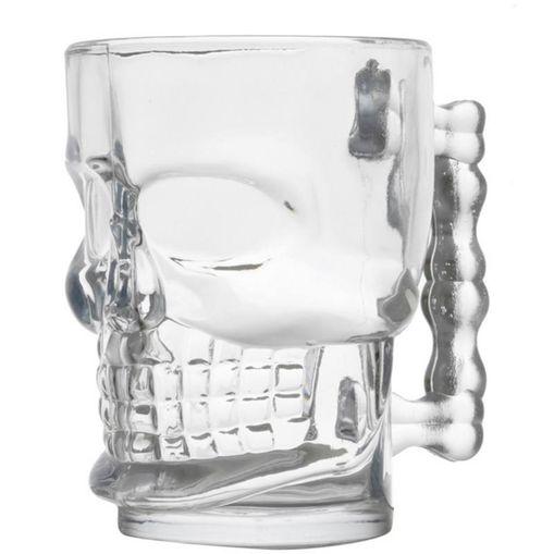 Caneca de Vidro Caveira para Chopp Cerveja Skull Style 510ml 6623 Lyor