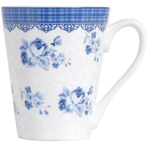 Caneca em Porcelana Azul Slim Grecia 2166 Lyor