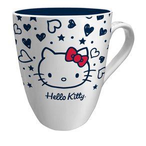Caneca Hello Kitty Coração Laço Vermelho